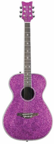 Daisy Rock Pixie Acoustic-Electric Pink Sparkle Guitar