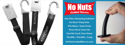 KickStrap and No Nuts Cymbal Sleeves - Working Drummer Pack